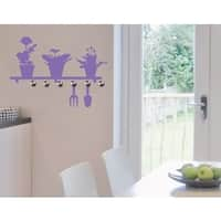Plant Shelf Wall Hanger Decal Vinyl Art Home Decor