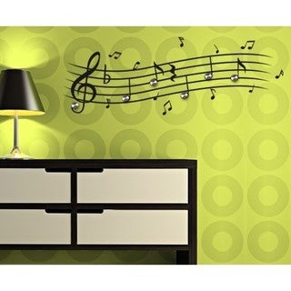 Music Notes Wall Hanger Decal Vinyl Art Home Decor