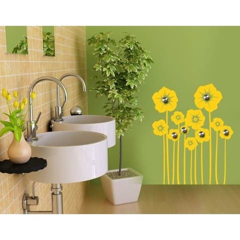 Flower Stem Wall Hanger Decal Vinyl Art Home Decor