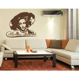 art pictures for living room. Marlene Dietrich Wall Decal Vinyl Art Home Decor Gallery For Less  Overstock com