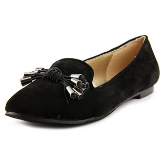 a.x.n.y. Women's 'Gator-90' Black Faux Suede Dress Shoes
