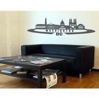 Washington D.c. City Skyline Cityscape Wall Decal Vinyl Art Home Decor
