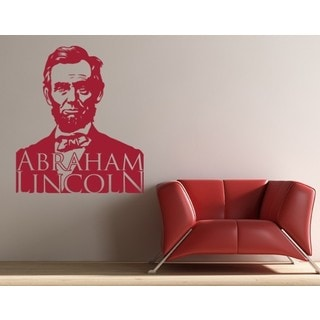 Abraham Lincoln Wall Decal Vinyl Art Home Decor