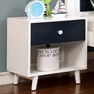 Furniture of America Kacie Modern Blue/White Youth Nightstand