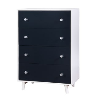 Furniture of America Kacie Modern Blue/White Youth 4-drawer Chest