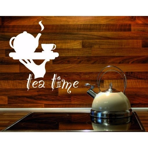 Tea Time Wall Decal Vinyl Art Home Decor