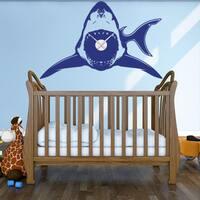 Shark Wall Clock Vinyl Decor Wall Art