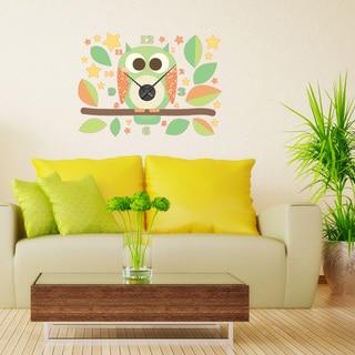 Owl Wall Clock Vinyl Decor Wall Art