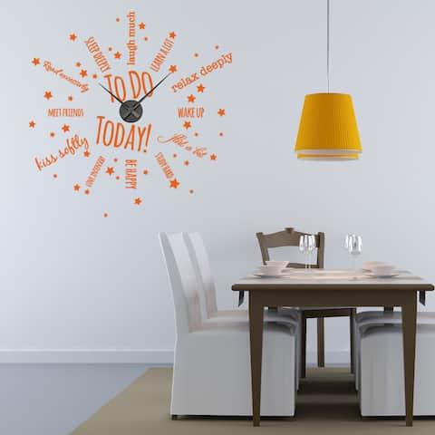 To Do Today Wall Clock Vinyl Decor Wall Art