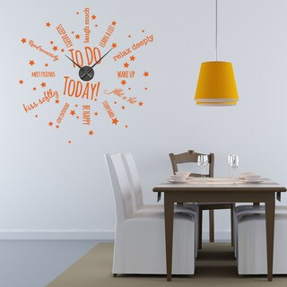 To Do Today Wall Clock Vinyl Decor Wall Art (More options available)