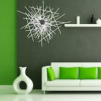 Abstract Wall Clock Vinyl Decor Wall Art