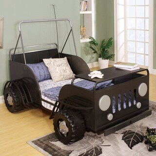 Furniture of America Jungler Metal Off-Road Vehicle Gun Metal Twin Bed