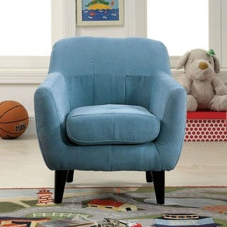 Furniture of America Lara Contemporary Flannelette Scoop Youth Frame Arm Chair|https://ak1.ostkcdn.com/images/products/11546104/P18491327.jpg?impolicy=medium
