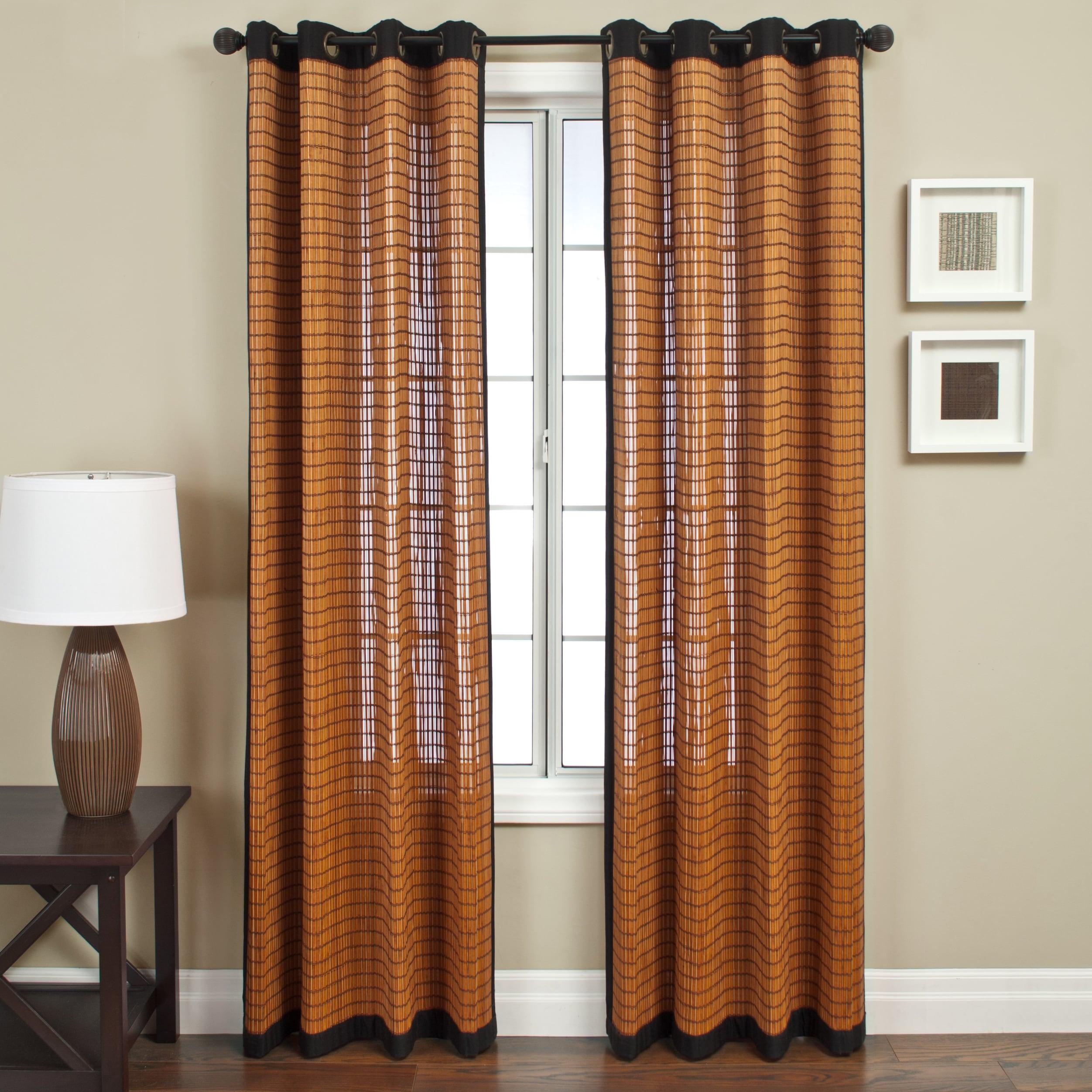 Softline Evergreen Brown Bamboo Curtain Panel Single Panel Overstock 11546107