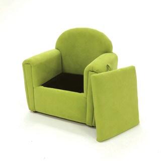 Furniture of America Collie Modern Flannelette Kids Storage Club Chair