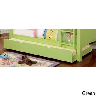 Furniture of America Pice Modern Twin Solid Wood Pull-Out Trundle