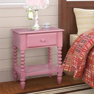 Link to Furniture of America Alma Transitional Open Shelf Youth Nightstand Similar Items in Kids' & Toddler Furniture