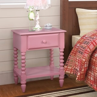 Furniture of America Alma Transitional Open Shelf Youth Nightstand