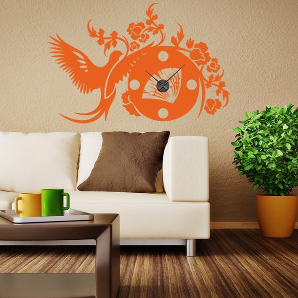 Asian Wall Clock Vinyl Decor Wall Art
