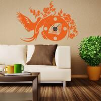 Asian Wall Clock Vinyl Decor Wall Art