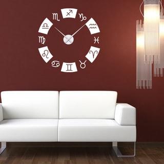Zodiac Wall Clock Vinyl Decor Wall Art
