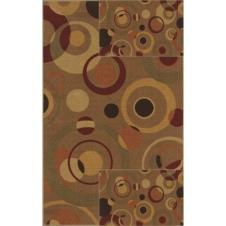 "Carmel 3-pack Rectangular Rug Set (1 Rug-5'x7' and 2 Rugs-17""x27"")"