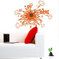 Bang Bang Wall Clock Vinyl Decor Wall Art