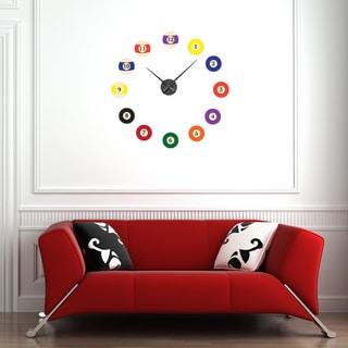 Billiard Balls Wall Clock Vinyl Decor Wall Art