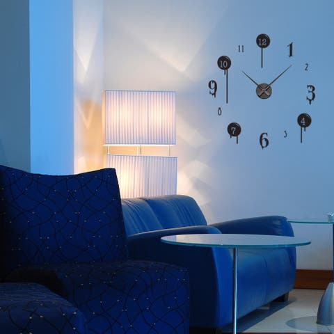 Drip Wall Clock Vinyl Decor Wall Art