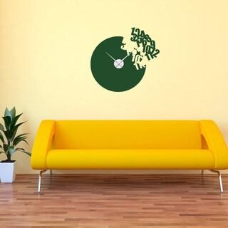 Flying Numbers Wall Clock Vinyl Decor Wall Art