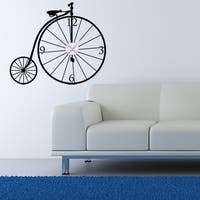 Bicycle Wall Clock Vinyl Decor Wall Art