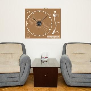 Turnable Wall Clock Vinyl Decor Wall Art