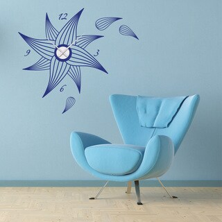 Flower Wall Clock Vinyl Decor Wall Art