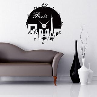 Paris Wall Clock Vinyl Decor Wall Art