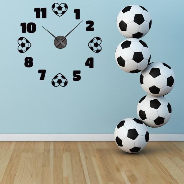 ... Soccer Wall Clock Vinyl Decor Wall Art ...