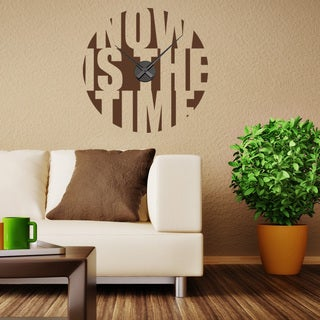 Now Is The Time Wall Clock Vinyl Decor Wall Art