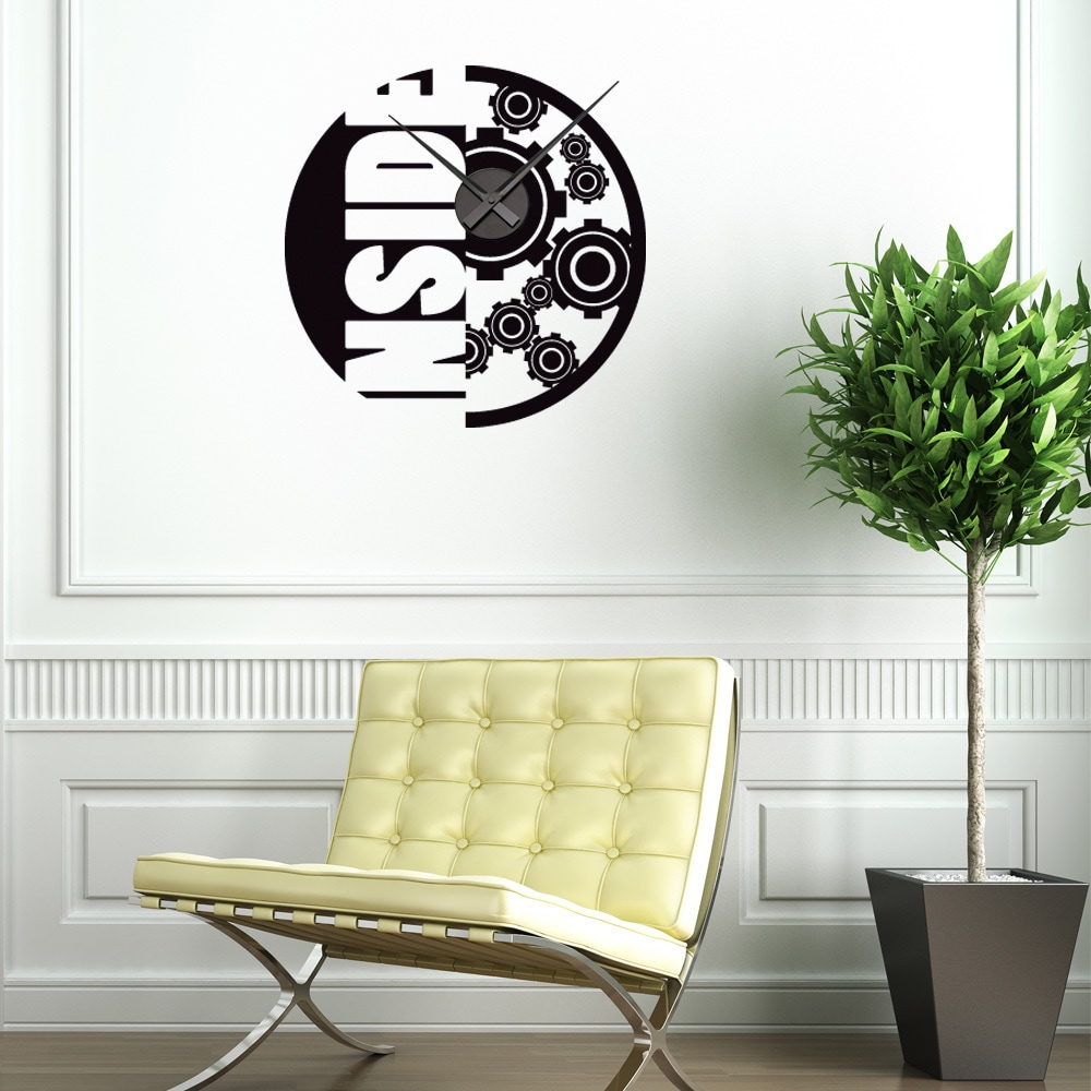 Inside Wall Clock Vinyl Decor Wall Art Overstock 11546190