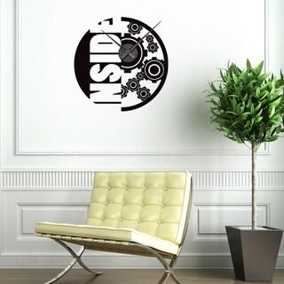 Inside Wall Clock Vinyl Decor Wall Art