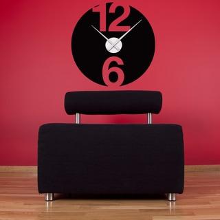 12 and 6 Wall Clock Vinyl Decor Wall Art