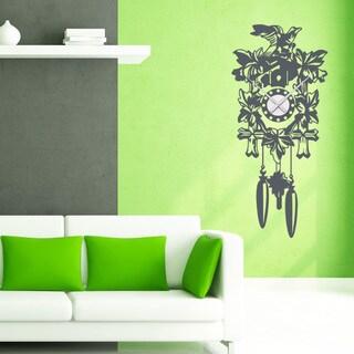 Cuckoo Wall Clock Vinyl Decor Wall Art