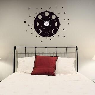 Phrases of The Moon Wall Clock Vinyl Decor Wall Art