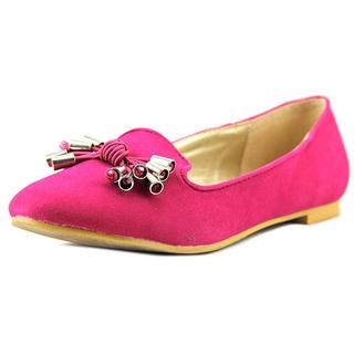a.x.n.y. Women's 'Gator-90' Pink Faux Suede Dress Shoes