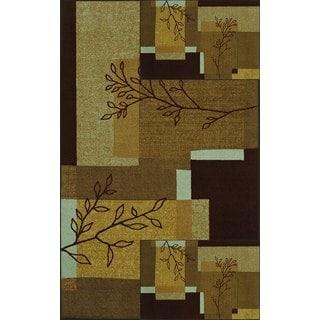 "Carmel 3-pack Leaves Rectangular Rug Set (1 Rug-5'x7' and 2 Rugs-17""x27"")"