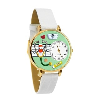 Nurse Green Watch in Gold