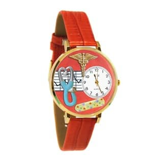 Nurse 2 Red Watch in Gold|https://ak1.ostkcdn.com/images/products/11546252/P18491487.jpg?impolicy=medium