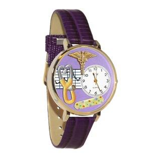 Nurse 2 Purple Watch in Gold|https://ak1.ostkcdn.com/images/products/11546253/P18491482.jpg?impolicy=medium
