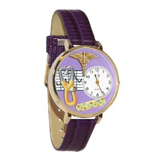 Nurse 2 Purple Watch in Gold