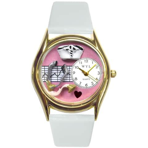 Nurse Pink Watch Small Gold Style
