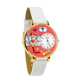 Nurse Red Watch in Gold|https://ak1.ostkcdn.com/images/products/11546259/P18491484.jpg?impolicy=medium