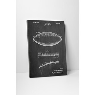 Patent Prints 'Football' Gallery Wrapped Canvas Wall Art
